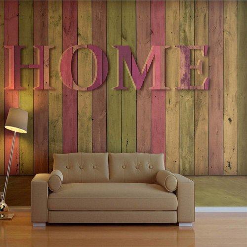 Fotobehang - Home, roze