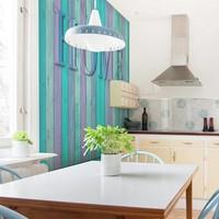 Fotobehang - Home (turquoise)