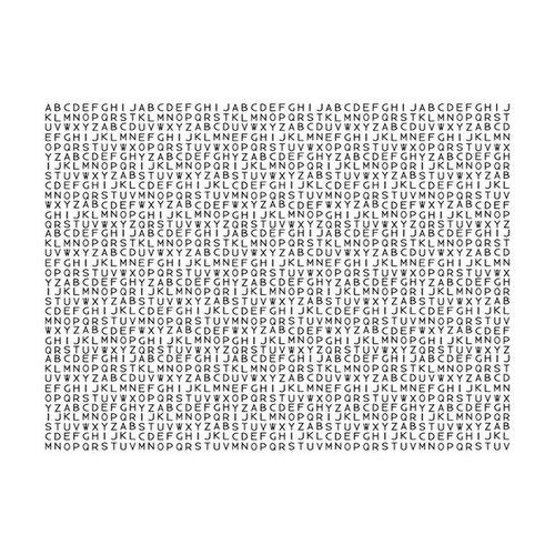 Fotobehang - Alphabet