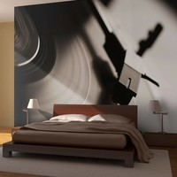 Fotobehang - Gramophone and vinyl record