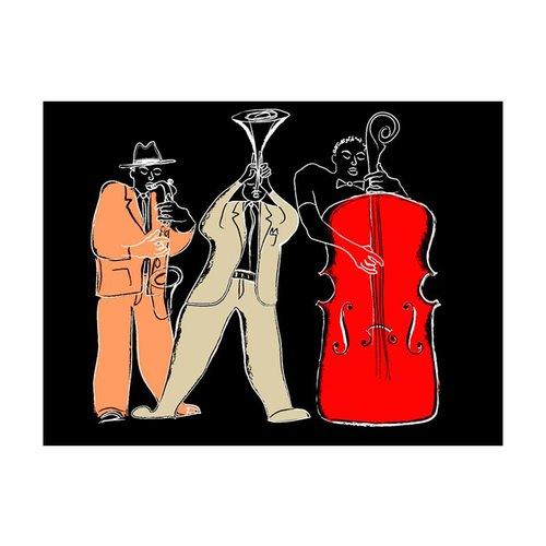 Fotobehang - Jazz instrumenten