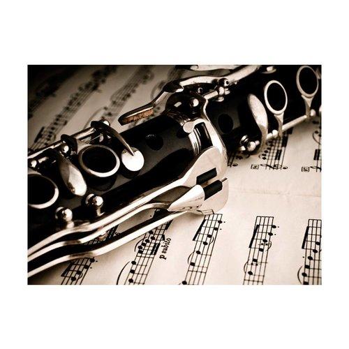 Fotobehang - Klarinet en bladmuziek