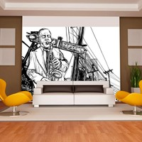 Fotobehang - Saxophone recital on Broadway