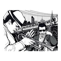 Fotobehang - New York, music, jazz...
