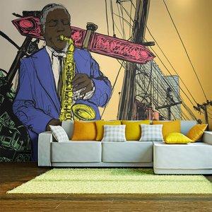 Fotobehang - Saxophonist in New York