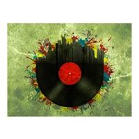 Fotobehang - Gekleurde melodieën van de stad, Vinyl