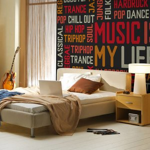 Fotobehang - Music is my life