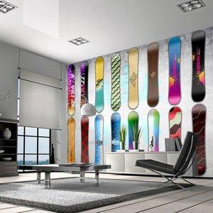 Fotobehang - Snowboard muur