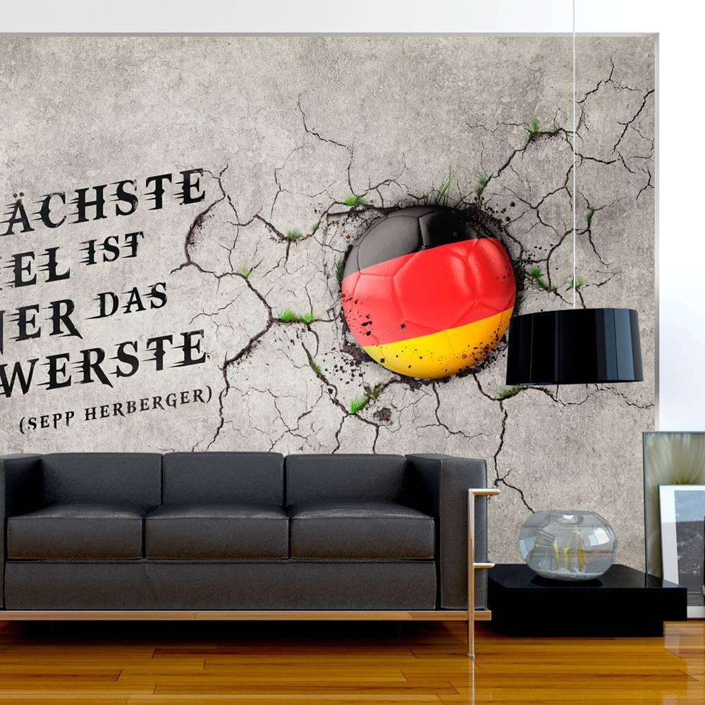 Fotobehang - Das nachste Spiel ist immer das schwerste (Sepp Herberger) Duitsland