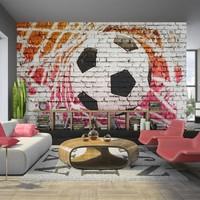 Fotobehang - Straat voetbal