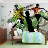 Fotobehang - voetbal sterren