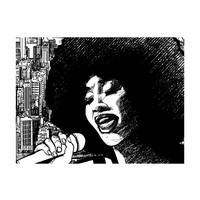 Fotobehang - Jazz-zangeres