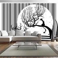Fotobehang - Vliesbehang Melodie van poezen II , zwart wit, kinderkamer
