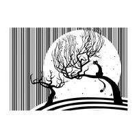Fotobehang - Melodie van poezen II , zwart wit, kinderkamer