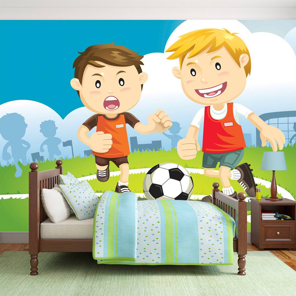 Fotobehang - Het kampioenen team, voetbal