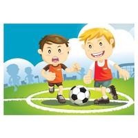 Fotobehang - Het kampioenen team, voetbal , multikleur, kinderkamer