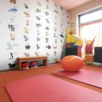 Fotobehang - Vliesbehang Spelend leren, Dieren, kinderkamer