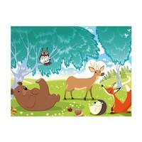 Fotobehang - Dieren in het bos, kinderkamer
