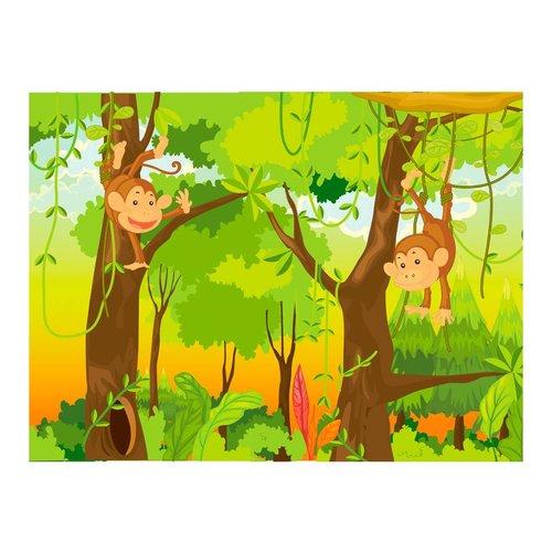 Fotobehang - Apen in de jungle
