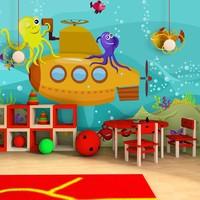Fotobehang - Vliesbehang Onderzeeboot, kinderkamer