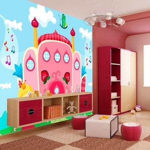 Fotobehang - Vliesbehang Kasteel van de prinses, kinderkamer