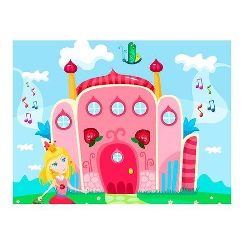 Fotobehang - Kasteel van de prinses, kinderkamer