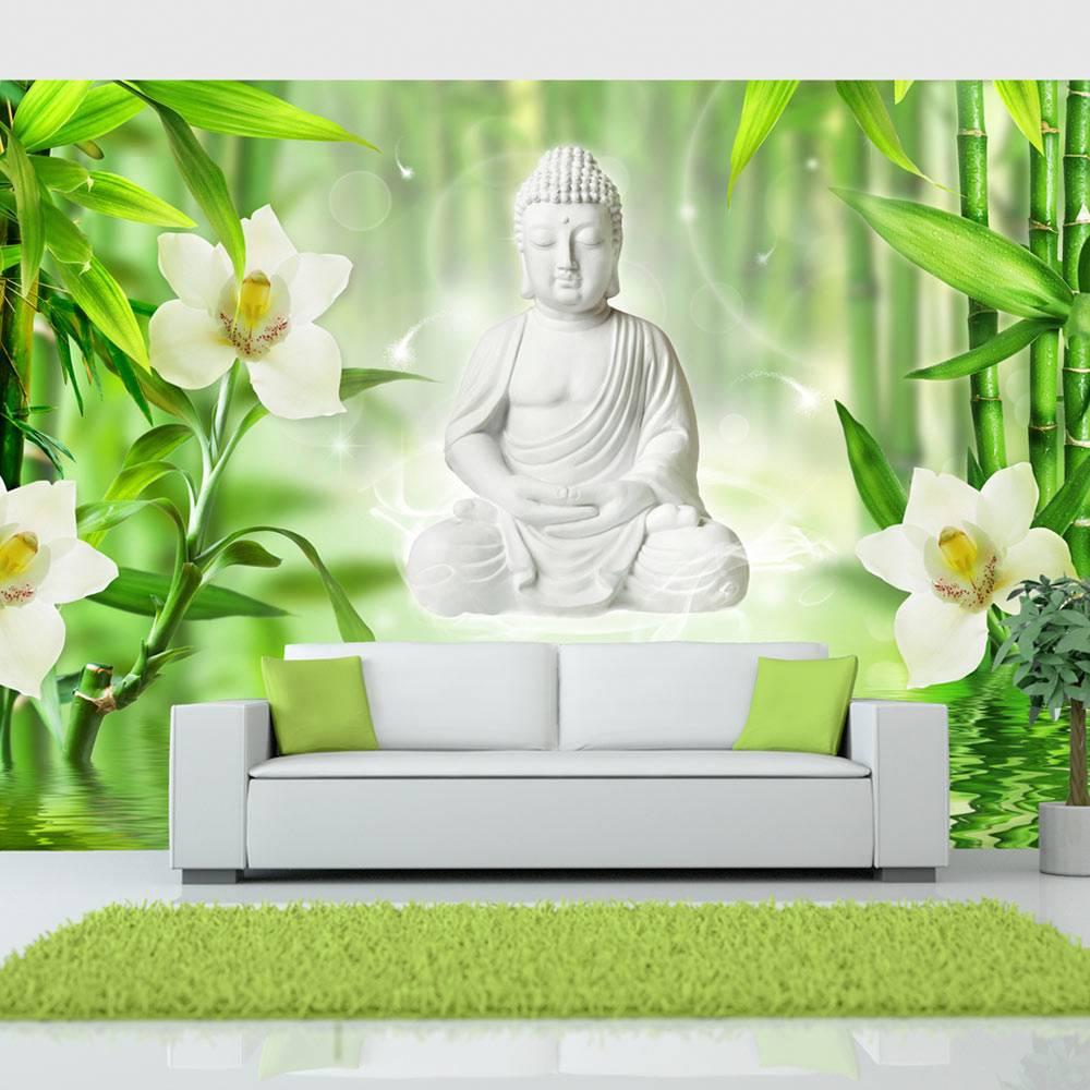 Fotobehang - Boeddha en natuur