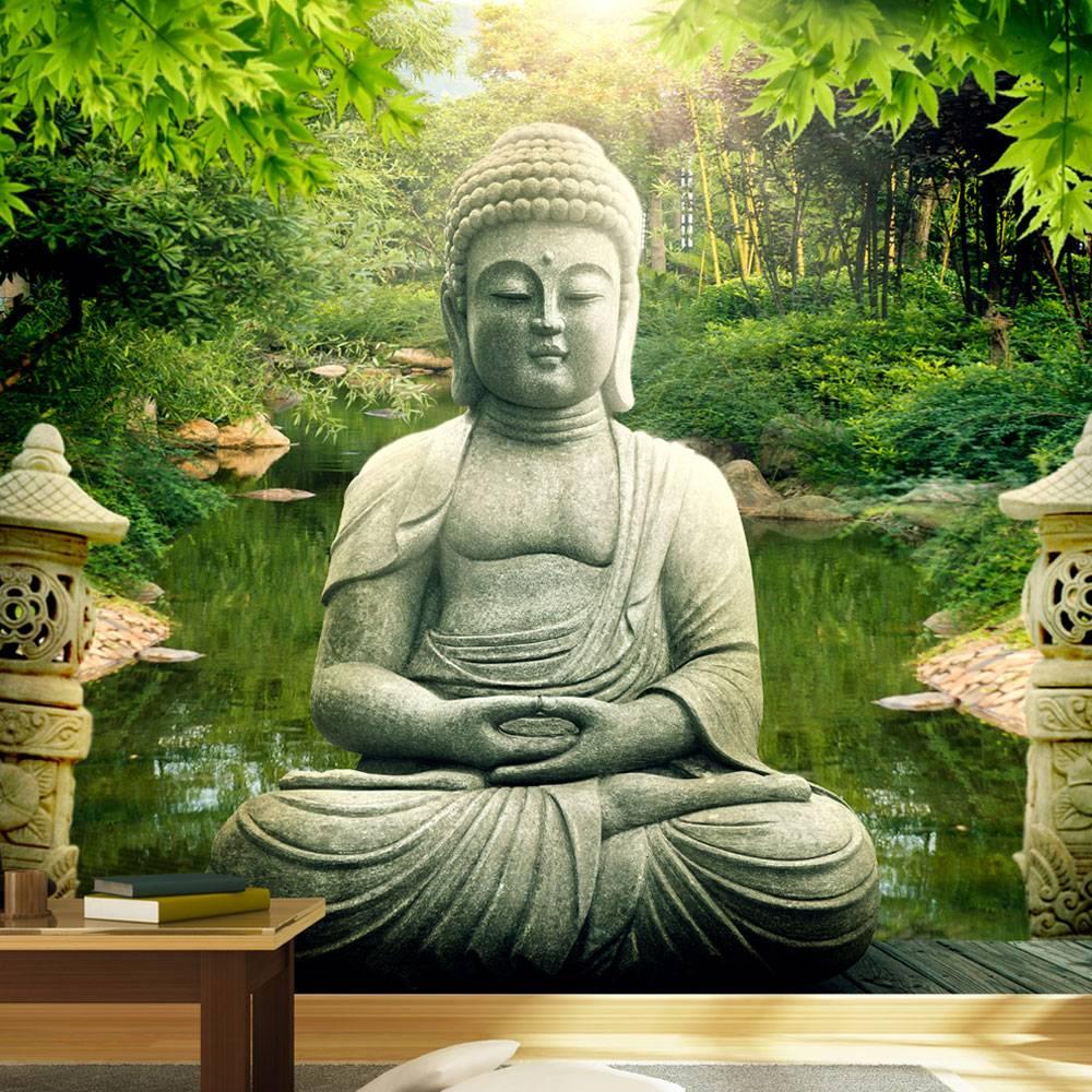 fotobehang de tuin van boeddha karo art vof. Black Bedroom Furniture Sets. Home Design Ideas