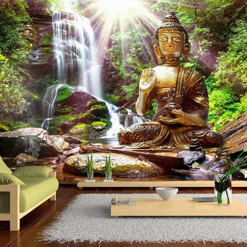 Fotobehang Boeddha In Het Bos Karo Art Vof