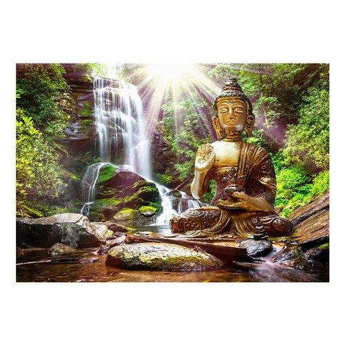 Fotobehang - Boeddha in het bos