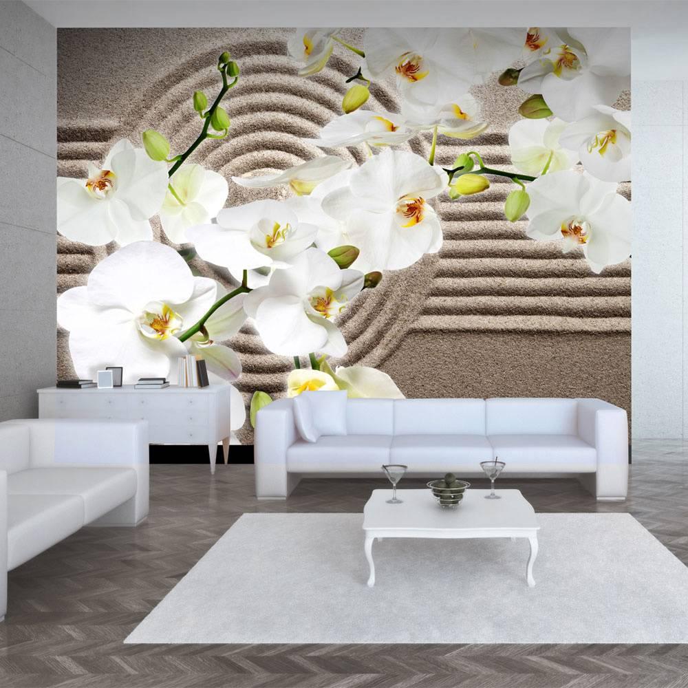 Fotobehang - Zen tuin - Orchidee