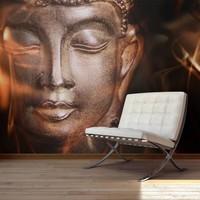 Fotobehang - Vuur en meditatie - Boeddha