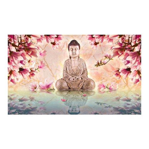 Fotobehang - Boeddha en magnolia