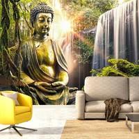 Fotobehang - Boeddha's paradijs