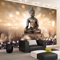 Fotobehang - Boeddha op een voetstuk