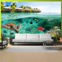 Fotobehang - onder de oppervlakte van het water , multi kleur