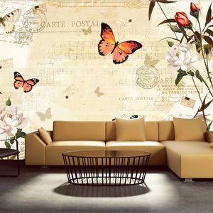 Fotobehang - Melodies of butterflies