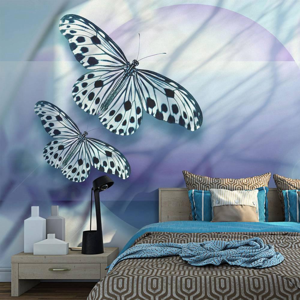 Fotobehang - Planeet van Vlinders , multi kleur