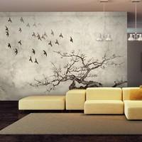 Fotobehang - Flock of birds