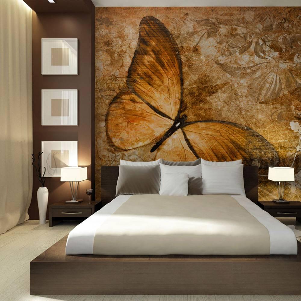 Fotobehang - butterfly (sepia)