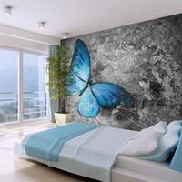 Fotobehang - Blue butterfly