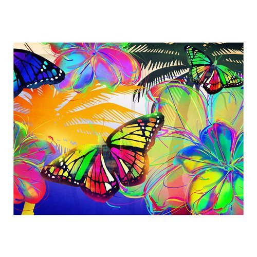 Fotobehang - Gekleurde vlinders , multi kleur