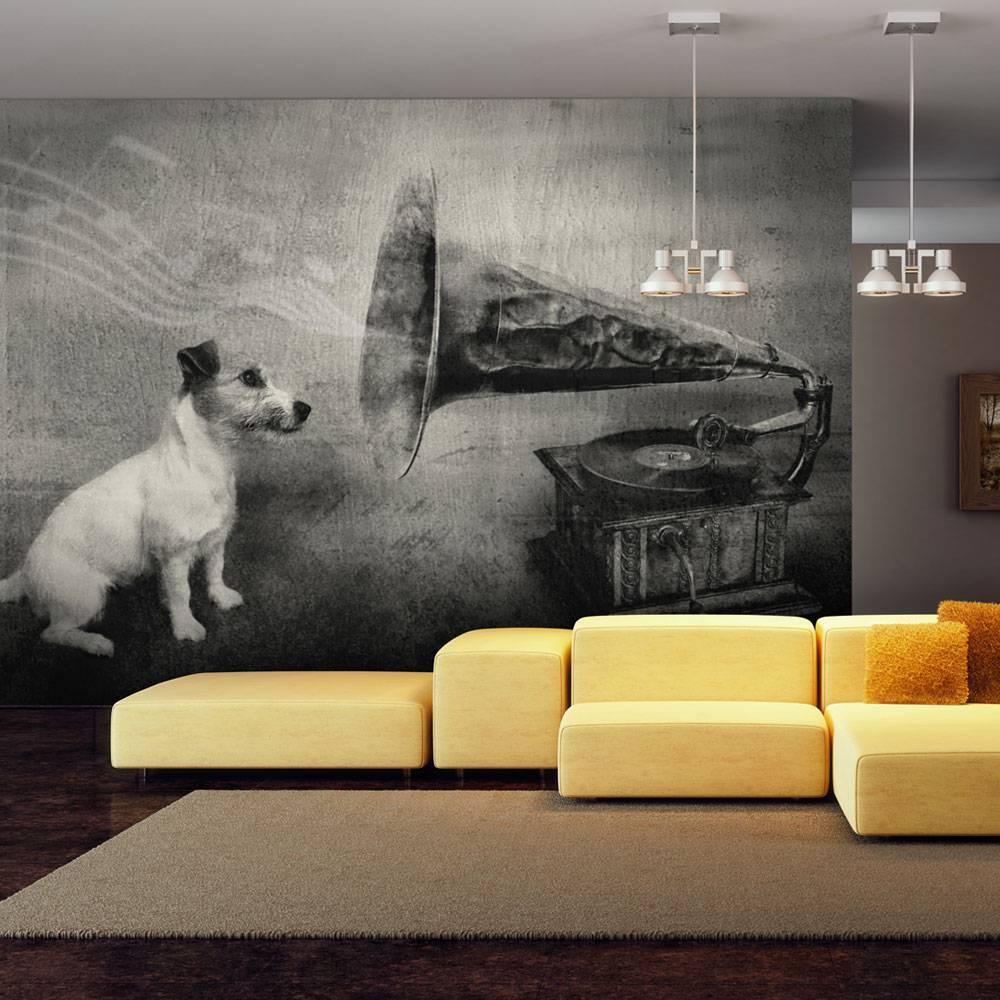 Fotobehang - Dog's melodies