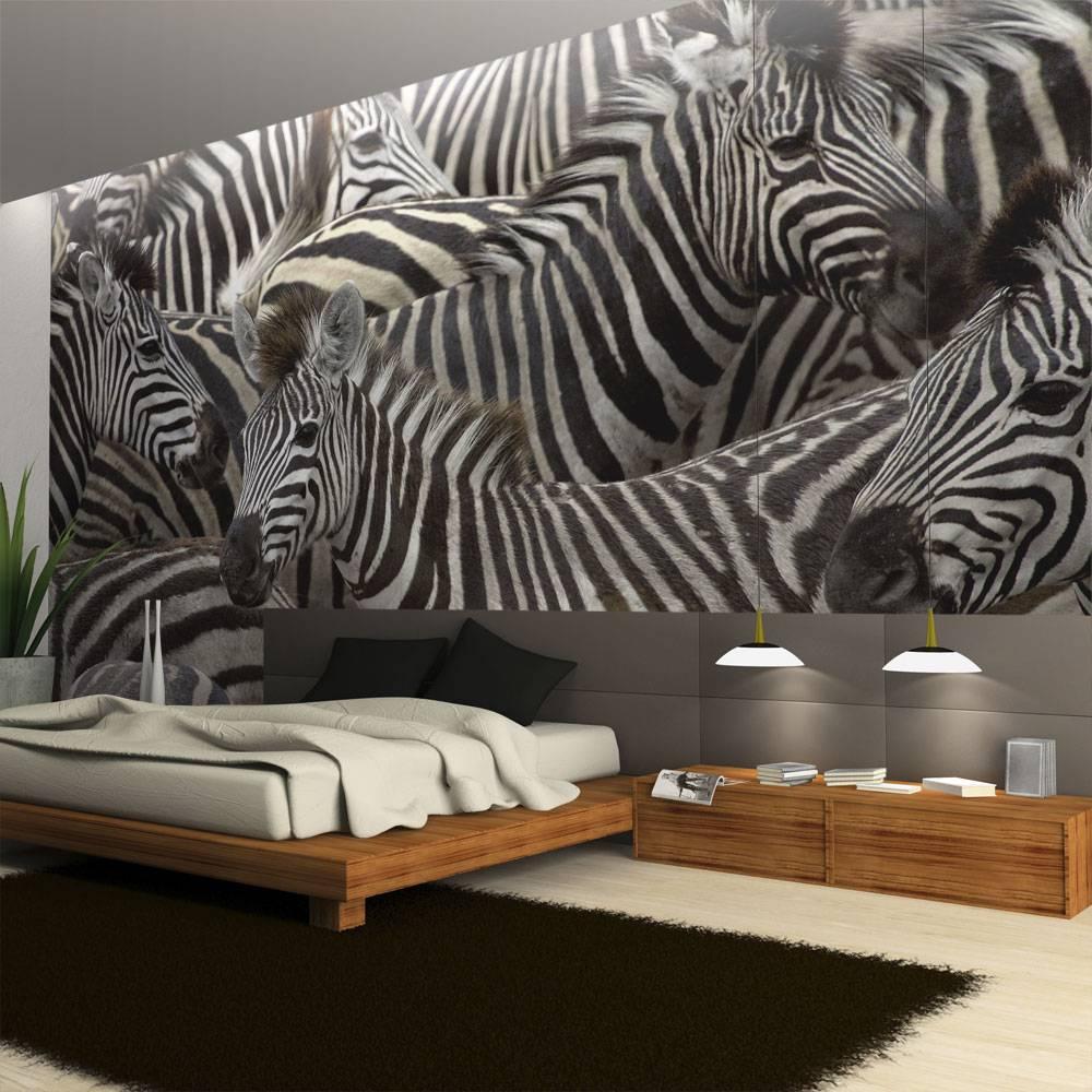 Fotobehang - Kudde zebra's