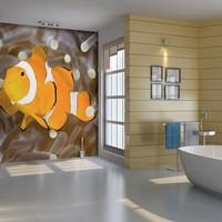 Fotobehang - Finding Nemo, tropische vis , oranje wit