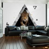Fotobehang - Luipaard, abstract , multi kleur