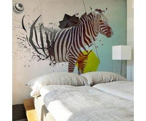 Behang Kinderkamer Zebra : Fotobehang in disharmonie met de natuur zebra karo art vof