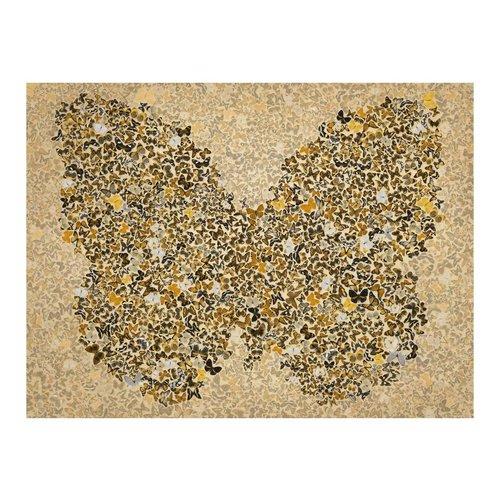 Fotobehang - Mevrouw Vlinder , beige bruin