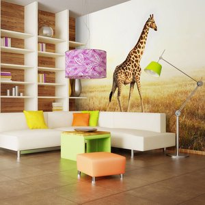 Fotobehang - giraf - wandeling