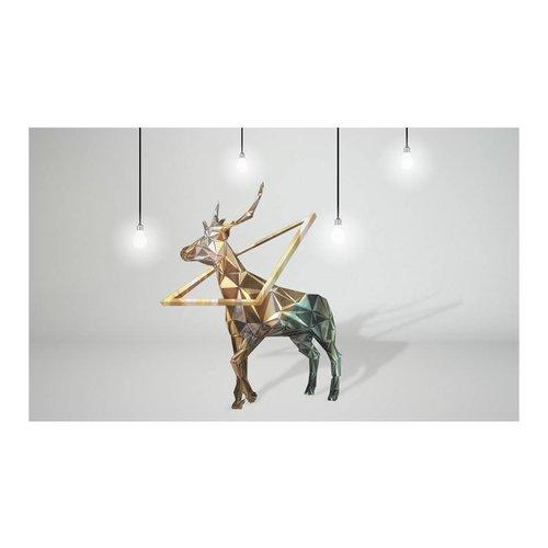 Fotobehang - hert (3D) , multi kleur